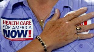 Une partisane de la réforme du système de santé de Barack Obama.