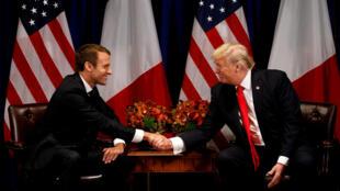 Rais wa Ufaransa Emmanuel Macron atakutana na mwenyeji wake rais wa Marekani Donald Trump.
