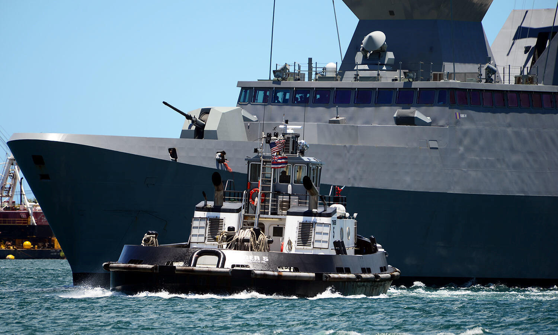 Chiến hạm RSS Tenacious của Singapore tham gia RIMPAC 2018. Ảnh 25/06/2018 tại căn cứ  Pearl Harbor-Hickam, Hawaii.