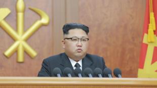 Lãnh đạo Bắc Triều Tiên Kim Jong Un tại Bình Nhưỡng, tháng 01/2017.