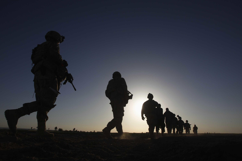 Patrouille de soldats américains de la prestigieuse mais controversée 82e division aéroportée, dans la province de Kandahar (sud de l'Afghanistan), en 2012.