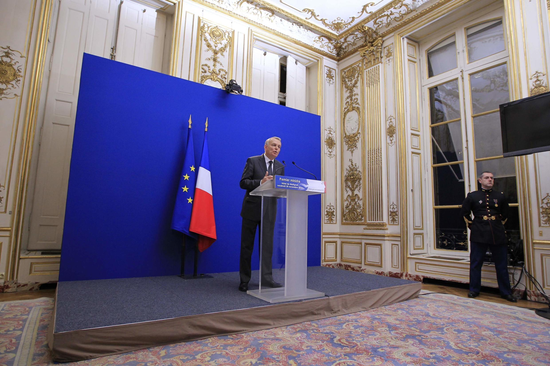 法國總理埃羅周五在總理府宣布與國際鋼鐵巨頭-安賽樂-米塔爾達成注資協議