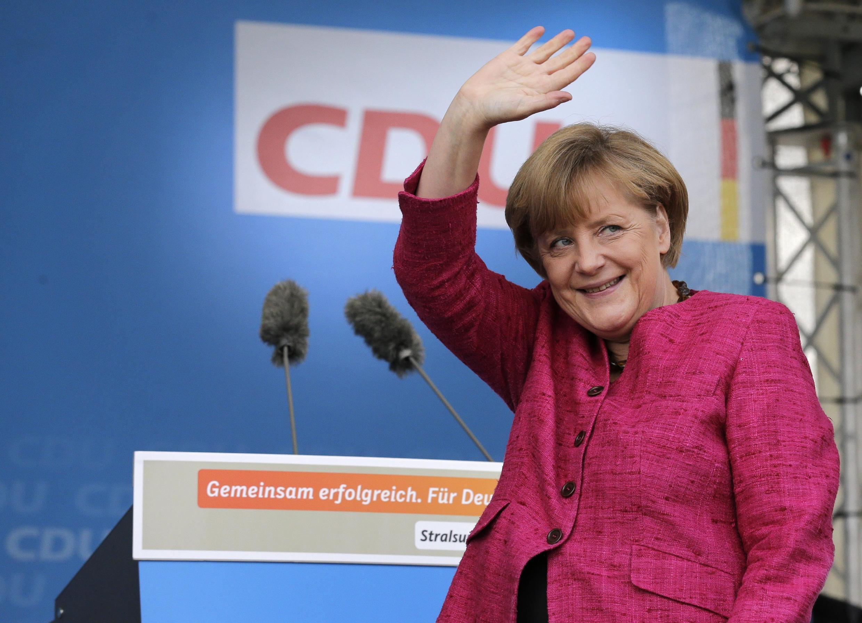 Kansela wa Ujerumani Angela Merkel ambaye Chama chake kimeongoza katika matokeo ya uchaguzi uliofanyika jumapili