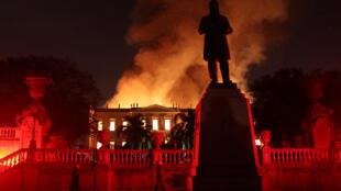 Hỏa hoạn ở viện Bảo tàng Quốc gia Brazil tại Rio de Janeiro, ngày 02/09/2018