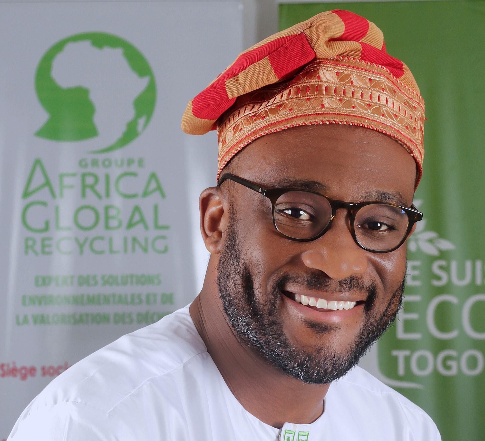 Edem d'Almeida, fondateur d'Africa Global Recycling.