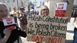 Biểu tình phản đối cải cách Tòa Án Tối Cao, ngày 24/07/2017 tại Vacxava.