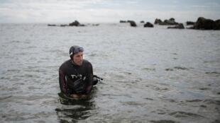 Бенуа Лекомт отправился в путешествие с пляжа городка Шоши, на восточном побережье острова Хонсю.