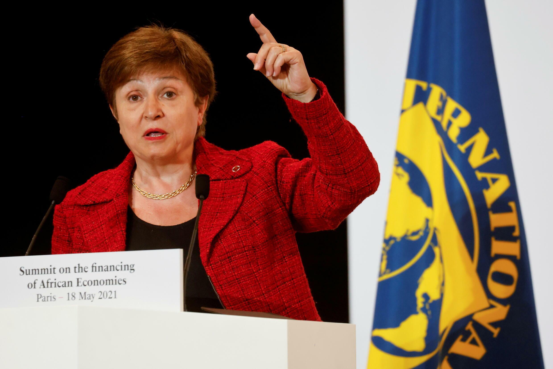 國際貨幣基金組織總裁格奧爾基耶娃資料圖片