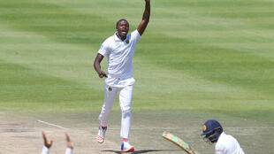 A file picture of South African bowler Kagiso Rabada who took 10 wickets in the Test match against Bangladesh.