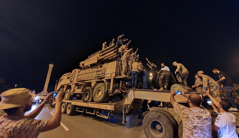 Les forces fidèles au gouvernement d'Union Nationale reconnu par l'ONU dans la capitale Tripoli, le 20 mai 2020.