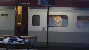 Le TGV Thalys où a eu lieu l'attentat raté , le 21 août 2015.