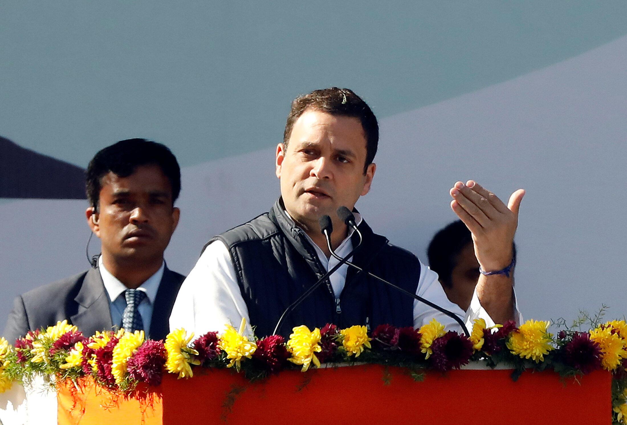 Rahul Gandhi, le nouveau président du parti d'opposition le Congrès national indien.