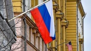 Vụ Skripal làm quan hệ Nga Mỹ thêm căng thẳng. Ảnh minh họa : Đại sứ quán Mỹ tại Matxcơva.