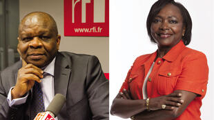 Jean Baptiste Placca (G) et Denise Epoté Durand (D).