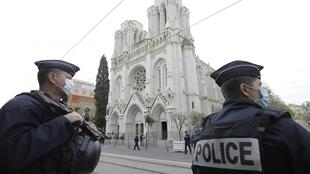 Basílica de Notre-Dame de Nice 29 de Outubro de 2020.