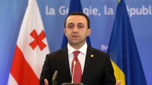 Le Premier ministre géorgien, Irakli Garibashvili, ici à Bruxelles, le 27 juin 2014.