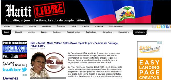 Marie Yolène Gilles est responsable de programmes au RNDDH. (Capture d'écran)