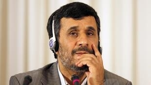O presidente iraniano Mahmoud Ahmadinejad.