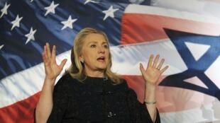 La secretaria de estado norteamericana Hillary Clinton condenó la construcción de nuevas colonias israelíes.