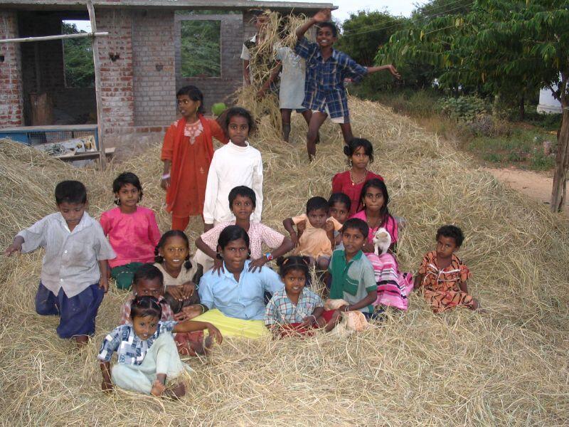 Children in a Dalit village near Madurai, Tamil Nadu, India.