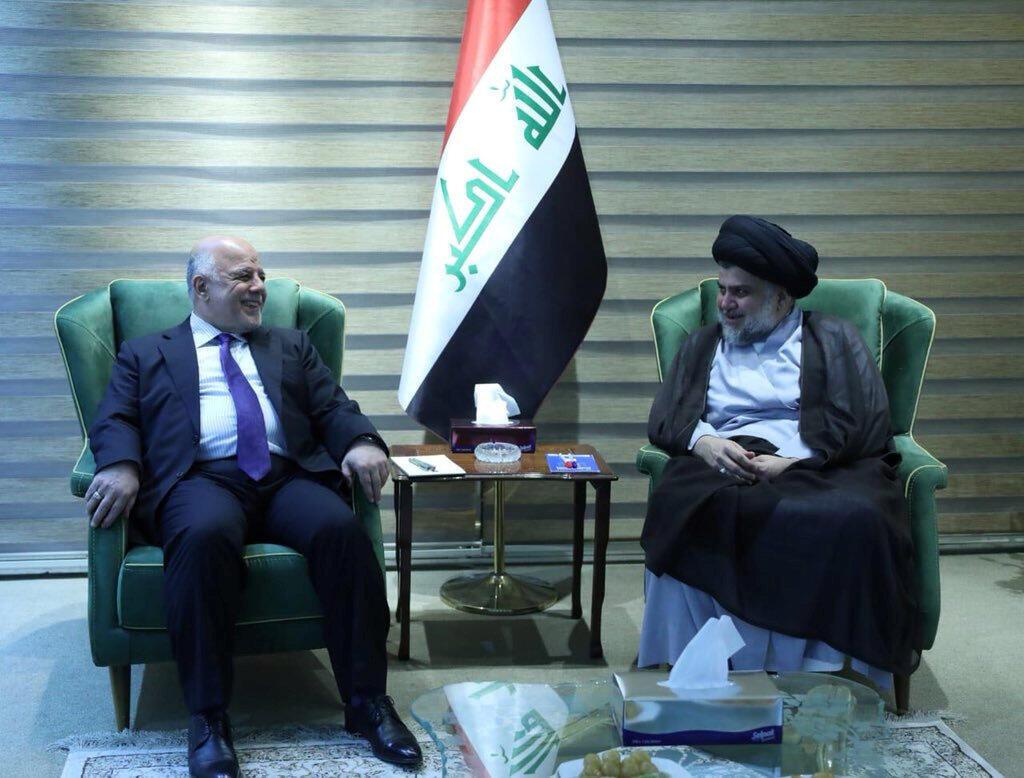 دیدار مقتدا صدر با حیدر عبادی