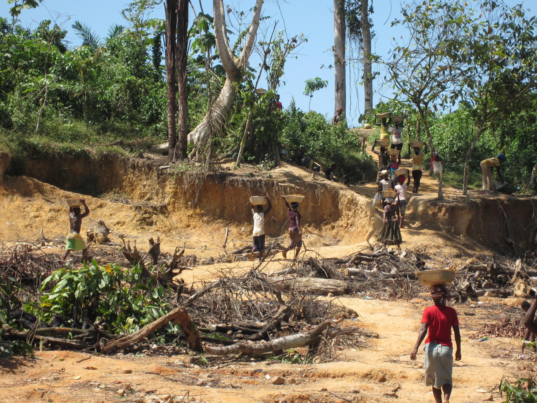 Une mine d'or dans le district de Tarkwa-Nsuaem, dans le centre du Ghana, en 2014.