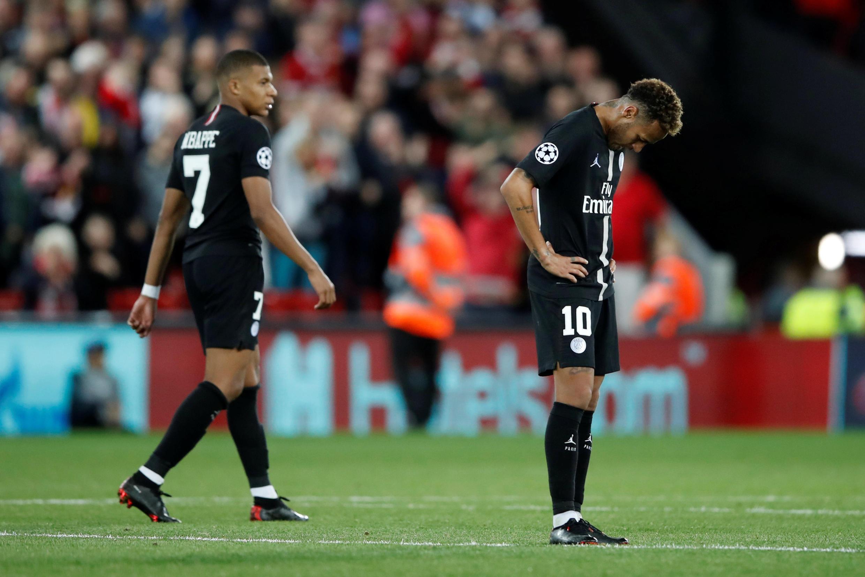 Kylian Mbappé, Neymar et le PSG ont été battus par Liverpool en Ligue des champions, le 18 septembre 2018.