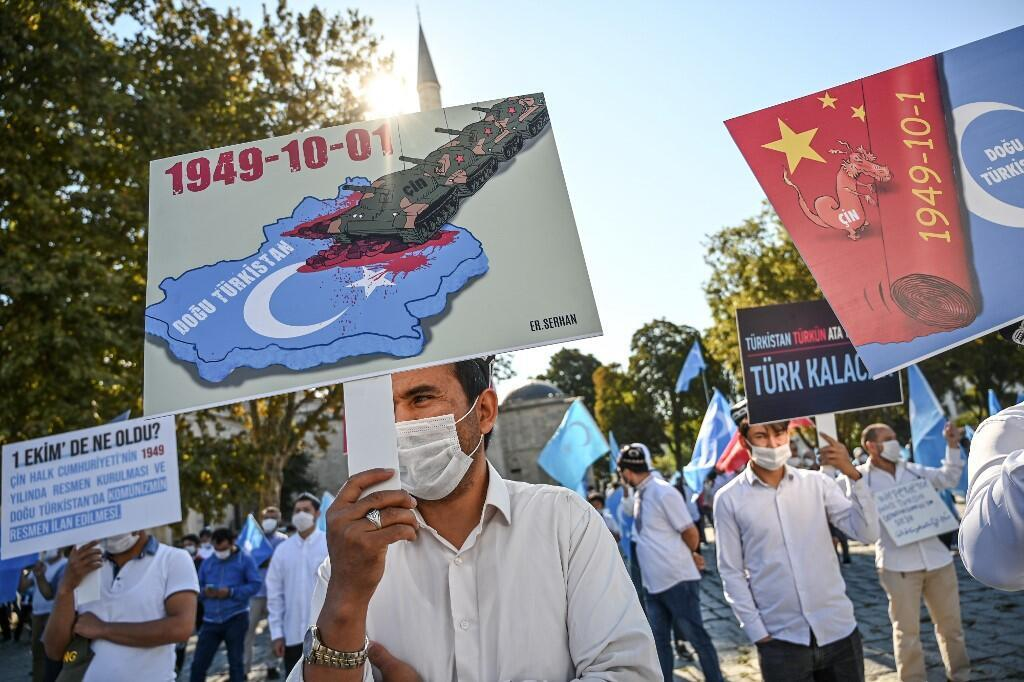 turquie - istanbul - uighours - manif - chine 000_8R69RC