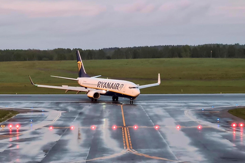 Jirgin saman kamfanin Ryanair da gwamnatin kasar Belarus ta karkatar da akalarsa ta hanyar tilasta masa sauka a filin jiragen sama na Minsk. 23/05/2021.