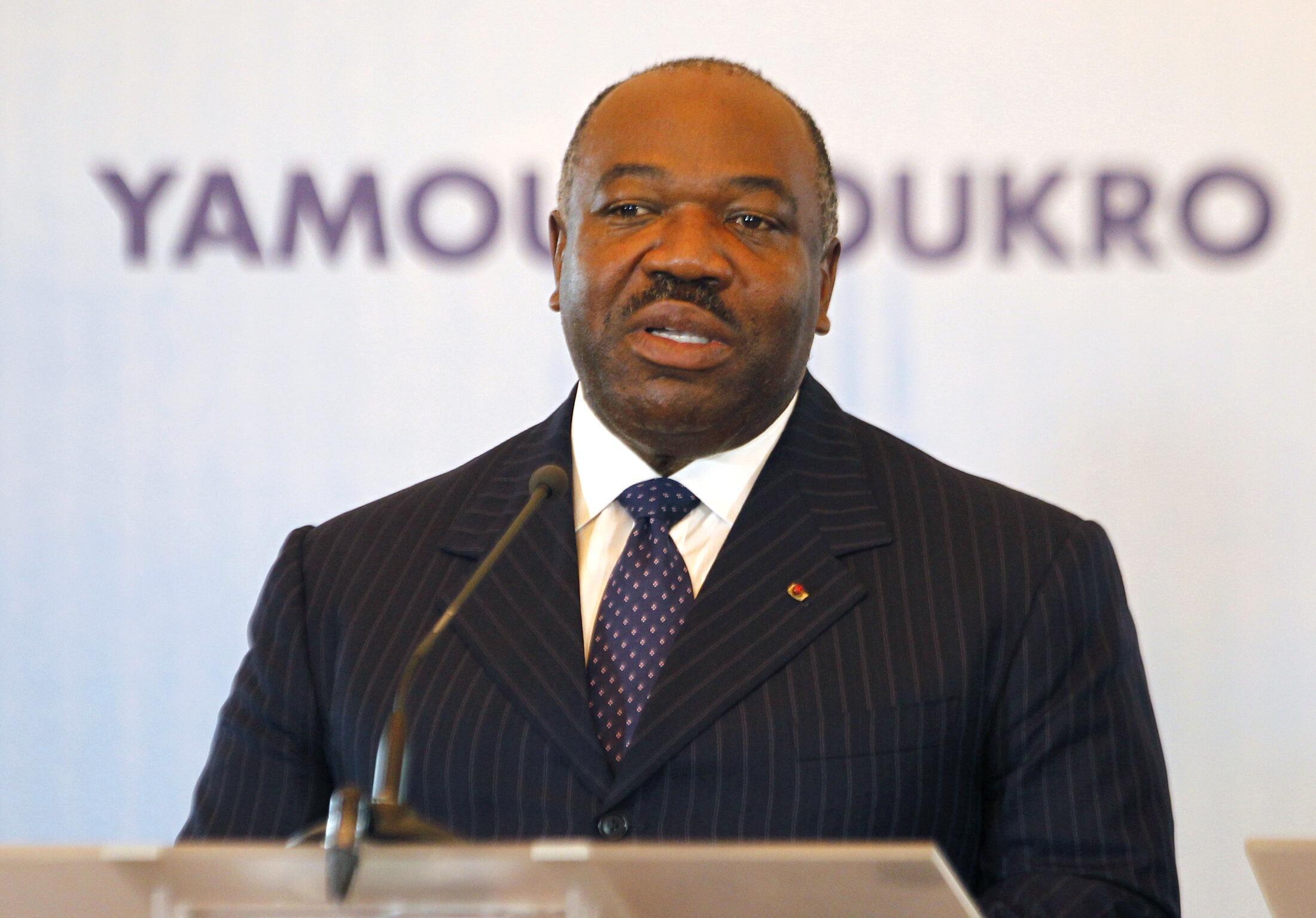 Le président gabonais Ali Bongo, le 26 novembre 2014 à Yamoussoukro, en Côte d'Ivoire.