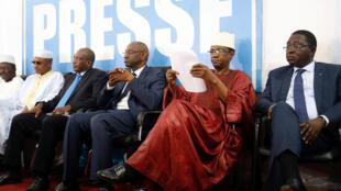 Conférence de presse des candidats de l'opposition après le premier tour de la présidentielle. Bamako, le 1er août 2018.
