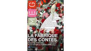 Affiche de l'exposition «La fabrique des contes».