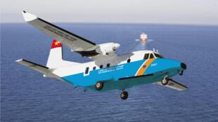 Máy bay tuần tra loại Airbus C212 của lực lượng  Cảnh sát Biển Việt Nam.