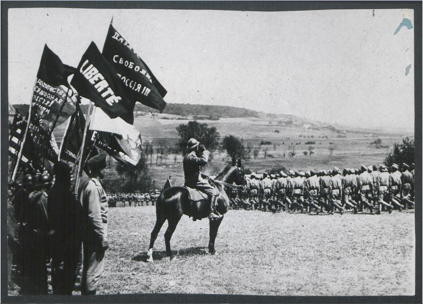 Манифестация в мае 1917 года, лагерь Ла-Куртин, фотография, переизданная в 1960-1970-х