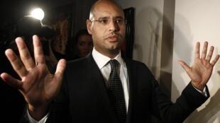 Saif Al-Islam Kadhafi in Moscow last year