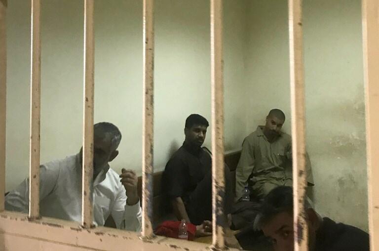 چند تن از زندانیانی که به اتهام همکاری با داعش در زندانی در عراق در انتظار محاکمۀ خود هستند – ١٠ مه ٢٠١٨