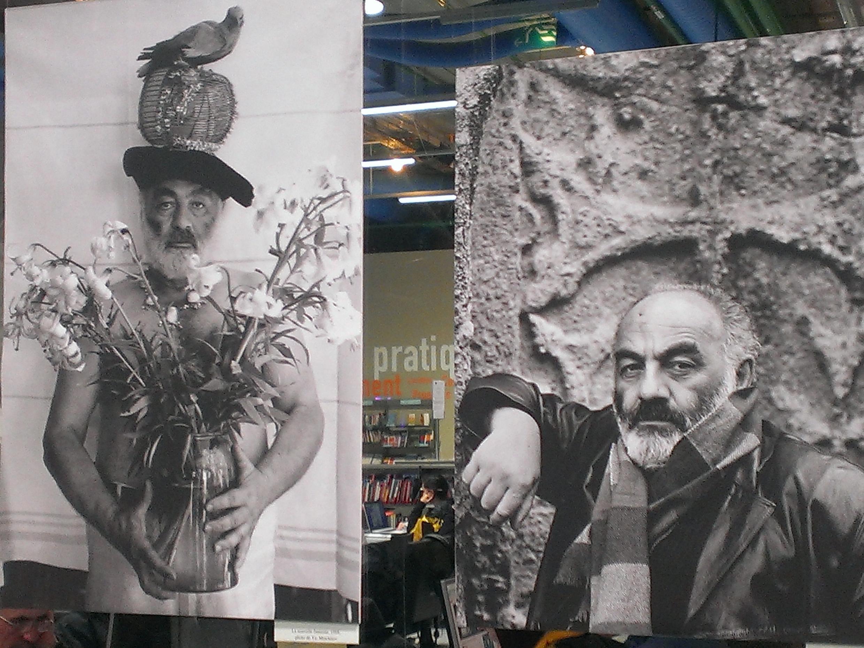 Портреты Параджанова, слева портрет работы фотографа Ю. Мечитова, идея С. Параджанова