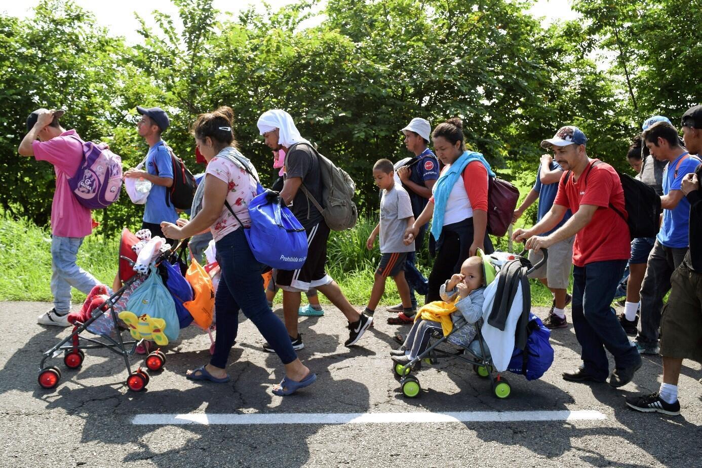 前往美国的中美洲移民2019年6月5日墨西哥恰帕斯州