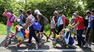 前往美國的中美洲移民2019年6月5日墨西哥恰帕斯州