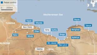 Sirta se encuentra en el norte del país.
