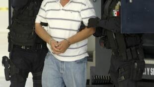 José Antonio Medina alias « Don Pepe » est présenté à la presse par la police fédérale à Mexico City, le 25 mars 2010.
