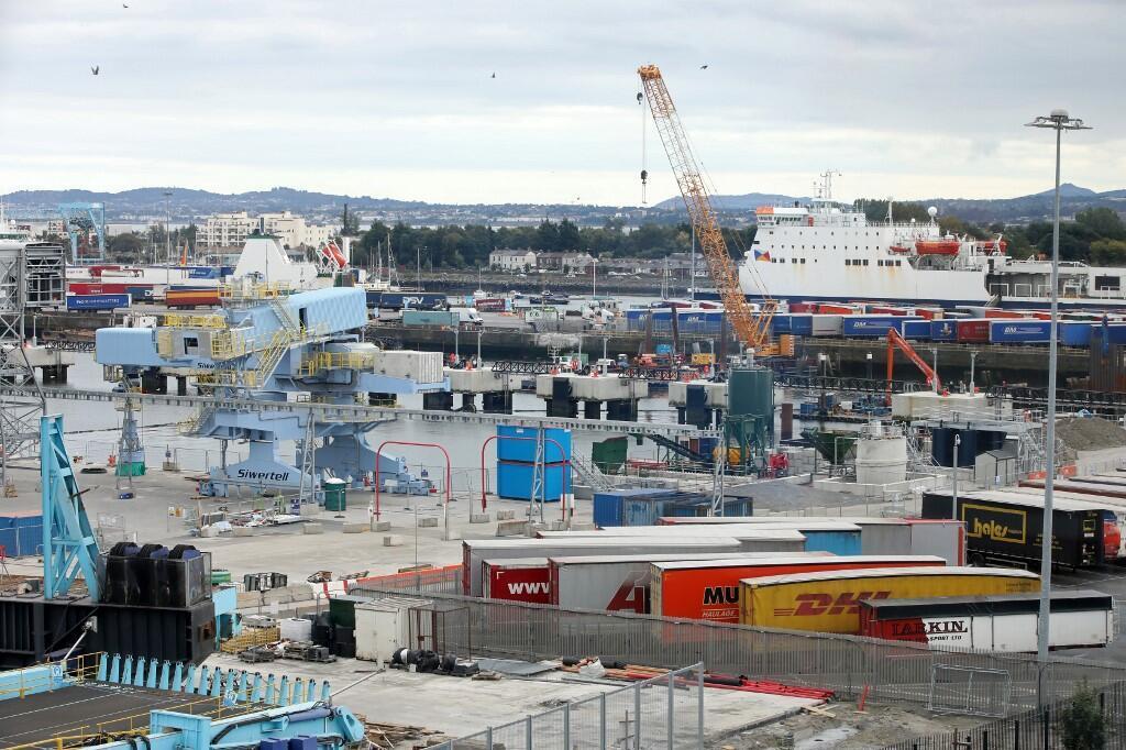 Cảng Dublin, Ireland, nơi mà thủ tướng Leo Varadkar đến thăm ngày 08/09/2019 để xem xét các cơ sở hạ tầng cho thời kỳ hậu Brexit..