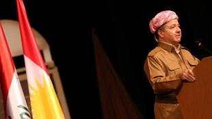 Le président de la région autonome du Kurdistan irakien, Massoud Barzani, ici en 2016, à Bagdad.