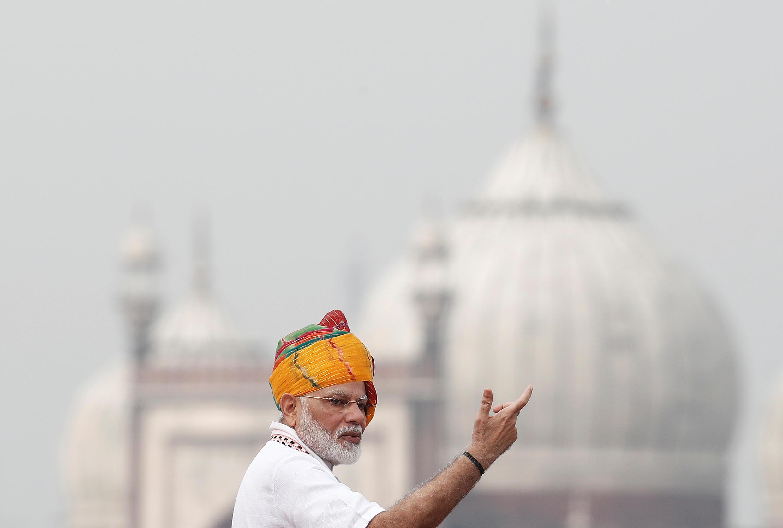 印度獨立日期間的莫迪
