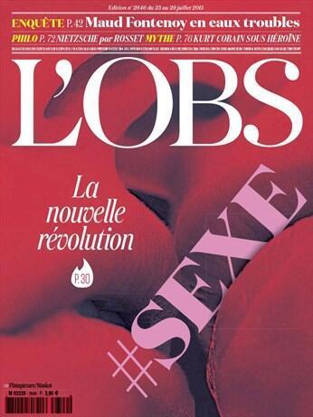 Trang bìa của tuần báo Le Nouvel Observateur số cuối tháng 7/2015.