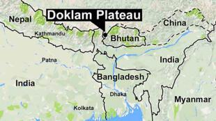 圖為尼泊爾官網登洞朗地圖