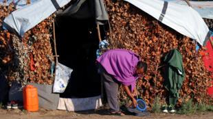 Dans un camp de réfugiés à la frontière de la Hongrie et de la Serbie, le 2 septembre 2016.