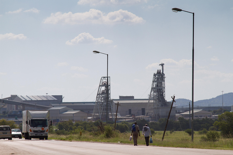 Mine de platine de Marikana, Afrique du Sud.