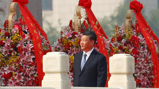 Chinese President Xi Jinping arrives at a wreath laying ceremony at the Monument to the People's Heroes in Tiananmen Square, marking the 70th anniversary of the founding of the People's Republic of China, in Beijing, China September 30, 2019.