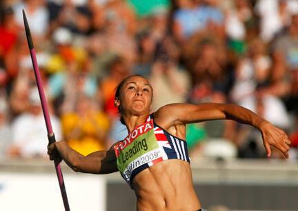 La beauté du geste chez l'Anglaise Jessica Ennis, championne du monde de l'heptathlon.